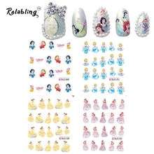 2017 New Arrival All Kinds of images Cartoon Character Series Nail Sticker Nail Art Decorations Fingernail Stickers(China)