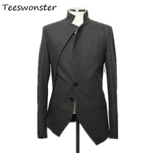 Winter New Arrival Mens Casual Blazer Single Breasted Slim Fit Suits Solid Black Dress Clothing Men Blazer Manteau Homme