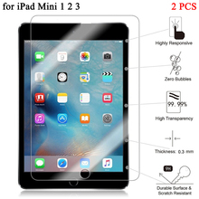"2pcs/lot 7.9"" Explosion-Proof Screen Protector For Apple iPad Mini 1 2 3 Tempered Glass for iPad Mini 2 3 Protective Film(China)"