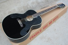 2016 New + Factory + Chibson J180 acoustic guitar black BILLIE JOE J180 electric acoustic guitar Free Shipping star inlays J180