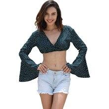 5479ed0b65 summer streetwear short tank tops women big long flare sleeve red green  polka dot sun tops