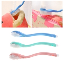 Double-Head Long Handle Shoes Cleaning Brush Toilet Washing Home Cleaner Tool JUN19(China)