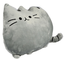 BOHS Pusheen Cat Stuffed Plush Toys Lovely Biscuits Tail Kitten Pillow 40*30cm(China)