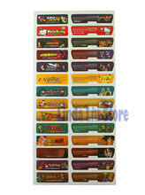 14sets=28pcs Customer Design Game Shell Seals Label back Lable Sticker for Gameboy Advance  For GBA Console Back Tag