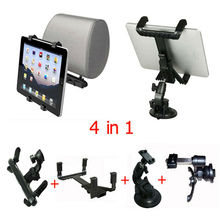 "360 Rotating 4 In 1 Universal Car Cradle Bracket Clip Windshield Stand For iPad 2 3 4 PC Table 9"" 10"" 13"" Moble Phone Holder Set"