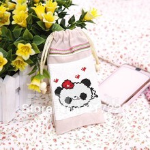 Counted Cross Stitch Kit Bag MP3 MP4  Pocket Money Coin Panda