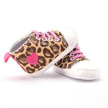 Heart-Shaped Leopard Print baby shoes first walker comfortable Canvas Shoes Baby Crib Shoes Breathable baby slofjes Dropshipping(China)