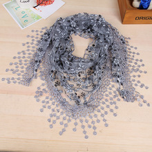 Lace Hollow Out Hook Floral Long Scarf Wrap Ladies Shawl Girls Large Silk Scarves