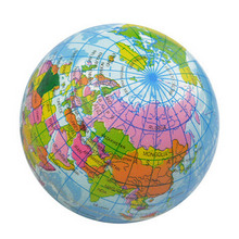 Hot Selling World Map Foam Earth Globe Hand Wrist Exercise Stress Relief Squeeze Soft Foam Ball Autism Mood Relief Healthy Toys(China)