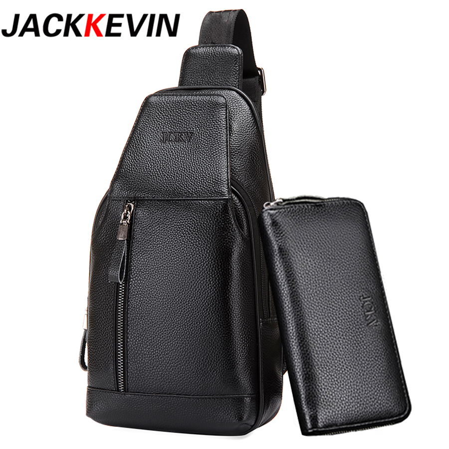Famous Brand Bag Men Chest Pack Single Shoulder Strap Pack Bag Genuine Leather Business BagMen Fashion Handbag Rucksack ChestBag<br>