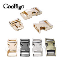 "10pcs Pack 3/8"" Side Release Buckle Metal 550 Paracord Bracelet Dog Collar Webbing 10mm Outdoor Backpack Bag Parts Accessories"