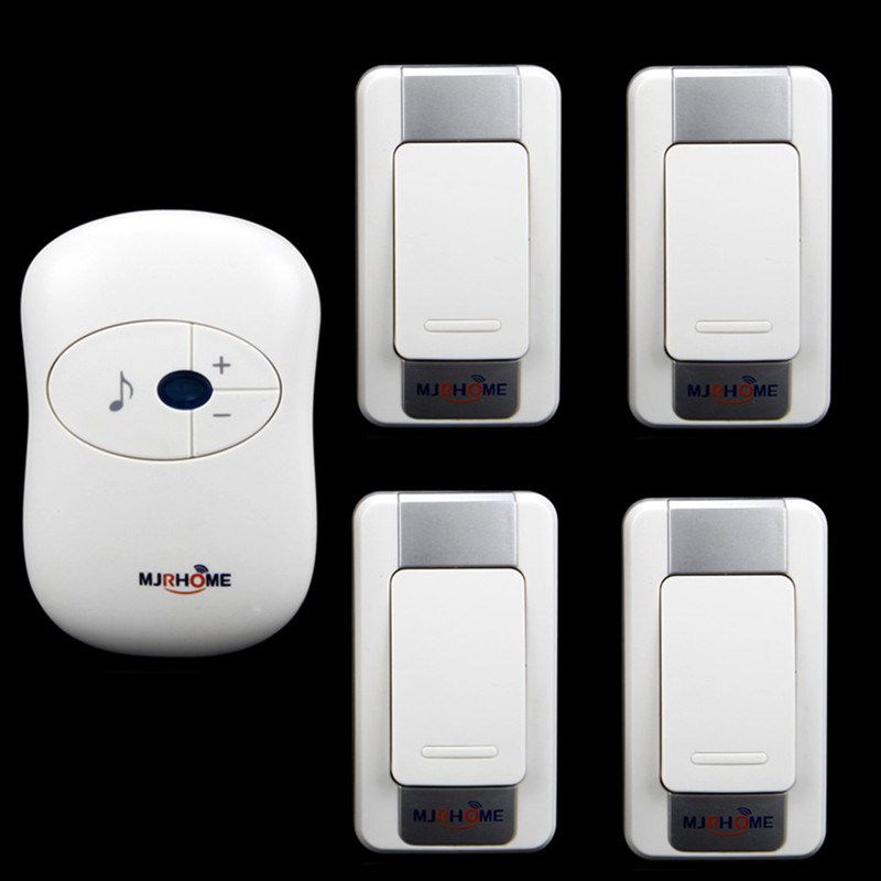 Waterproof Wireless Doorbell 280m working range 36 Ring tunes 4 transmitters+1 receiver High quolity Smart home LED Door Bell<br><br>Aliexpress