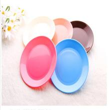 Dazzle colour tableware small dishes Snacks flat plate safe plastic snack plate environmental protection tableware