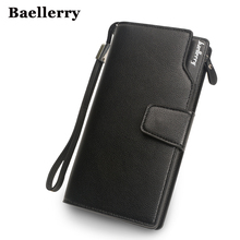 Baellerry Wallet Men Top Quality Leather Wallet Purse Fashion Casual Male Clutch Zipper Bag Brand Wallets Men Multifunction !