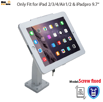 Fit for ipad wall mount Stand Desktop with lock display rack stand holder brace specialized frame housing holder for ipad air<br>