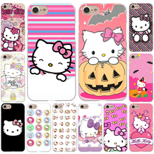 Fashionable Hello Kitty cute Hard White Cover Case for iPhone 8 8 Plus 7 7 Plus 6 6S Plus 5 5S SE 4 4S X/10(China)