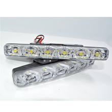 Car Styling 2Pcs/pair Universal Car Daytime Running Lights 6 LED DRL Daylight Kit Super White 12V DC Head Lamp