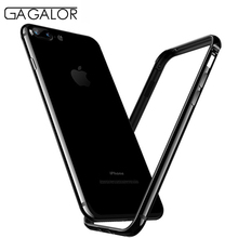 GAGALOR phone metal bumper for iPhone 7 case jet black ultrathin for iPhone7 aluminium(China)