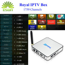 KB2 Android 2GB/32GB Amlogic s912 TV box Royal IPTV 1730+live channels arabic Europe Netherlan sweden iptv2.4G 5GHz dual band