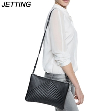 JETTING Luxury Soft PU Leather Women Messenger Bags Crossbody Bag Black Clutch Purse and Handbag Long Strap Sac a Main Dollar
