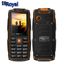 Vkworld New Stone V3 IP68 Rugged Waterproof Shockproof phone 2.4inchs 3000mAh Power Bank Three SIM Outdoor mobile phone