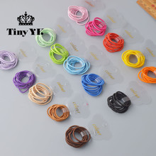 10 Pcs/ lot (1 pack) Mini 2.5mm thickness hair ropes little girls Slim hair ties kids Babe hair ropes accessories(China)