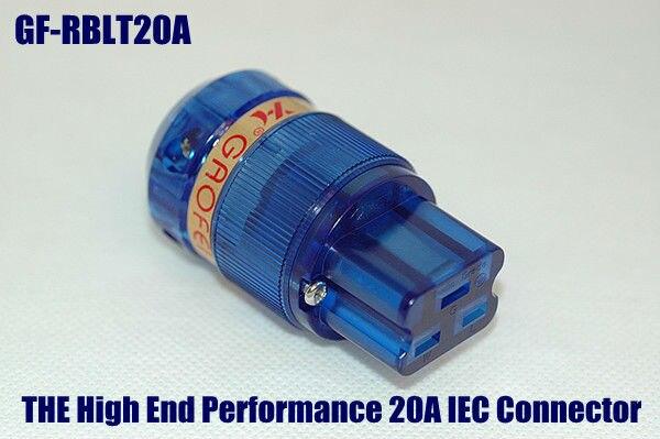 Gaofei GF-20A Red Copper Rhodium Plated 20A Connectors IEC Female power Plug<br><br>Aliexpress