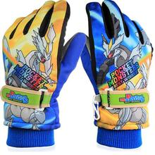 CN-RUBR New Arrival 6-14 Years Children Warm Snow Snowboard Gloves Winter Warm Gloves Cartoon Designs 2 colors(China)