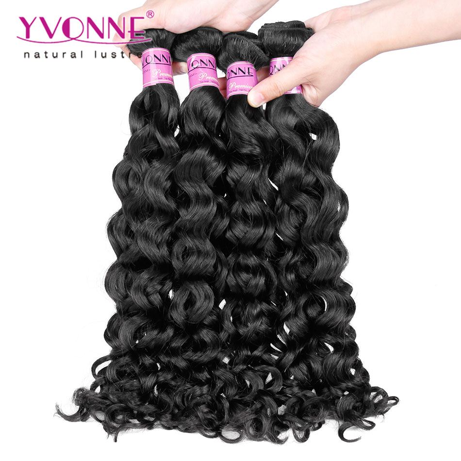 Unprocessed Peruvian Virgin Hair,4Pcs/lot Italian Curly Hair Weave,100% Human Hair,8-28 Inches in Stock,Color 1B<br><br>Aliexpress