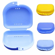 Portable 1Pc Dental False Teeth Appliance Container Storage Boxes Plastic Denture Bath Box Case Dentures Cleaner(China)