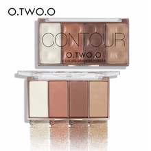 O.TWO.O 4 Colors Contour Bronzer & Highlighter Palette Grooming Powder Palette Brand Makeup Blusher Bronzer Powder Palette(China)