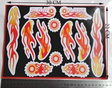 30x22cm,Flame sticker for Bicycle motorcycle,chopper, dirt bike,ATV,off road bike,scooter 2 lots more 20% off
