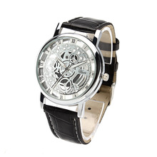 Hollow out fashion belt watch couple table not mechanical expression(China)