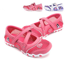 2017 New Summer High Quality Non-slip Children Shoes Girls Fashion Sandals Cartoon  Princess Sandals Kids Flat Shoes