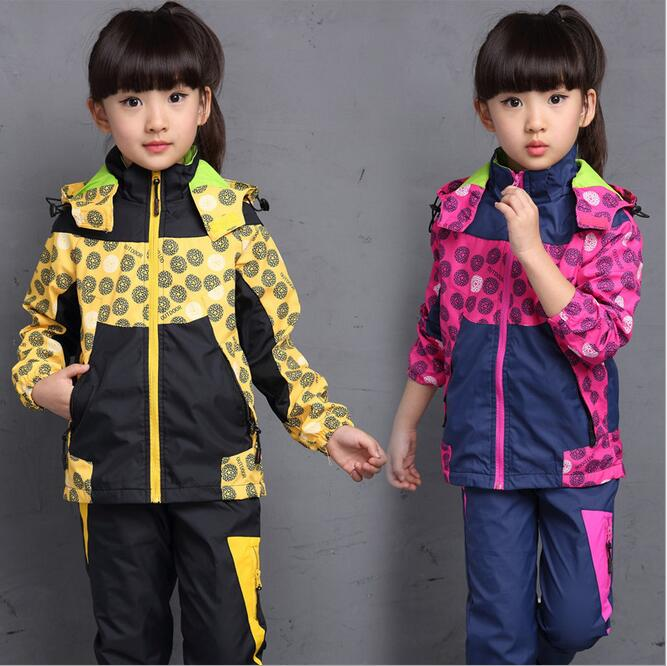 Leisure Childrens Clothing New Outdoor Sports Suit With Removable Hat Korean Kids Clothes Ensemble Fille Tracksuit For Girls <br><br>Aliexpress