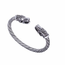 Lemegeton Indian Jewelry Wolf For Women Fashion Accessories Viking Bracelet Men Wristband Cuff Bangles Teen Wolf