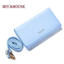 Miyahouse Women Clutch Bag PU Leather Female Envelope Day Clutches High Capacity Shoulder Bag Ladies Wristlet Long Wallets(China)