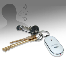 New Trendy Whistle Key Finder Flashing Beeping Remote Lost Keyfinder Locator Keyring(China)