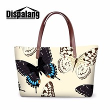 Dispalang cheap handbags butterfly print women vintage totes large capacity messenger bags ladies casual top-handle shoulder bag