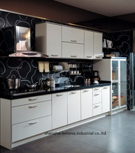 melamine/mfc kitchen cabinets(LH-ME017)(China)