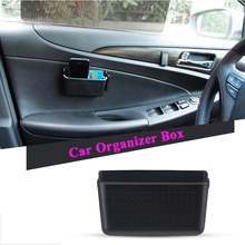 AUXITO Car Storage Box Cellphone Holder For VW Polo Passat B5 B6 CC GOLF 4 5 6 Tiguan GTI Jetta MK5 Peugeot 307 206 308 407 2008