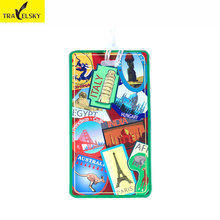 3pcs/set 2017 New Arrival Travel Luggage Label Straps PVC Multicolor And Styles Mix Business Suitcase Luggage Tags Free Shipping(China)