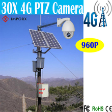 4G/3G 960P 1.3MP Bullet IP Camera Waterproof IR 150M 30X Zoom Outdoor solar camera with 200W solar panels