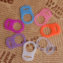 New 5Pcs Multi Colors Silicone Button Baby Dummy Pacifier Holder Clip Adapter for MAM Rings