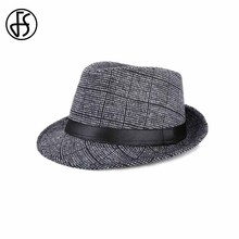 FS Brand New Unisex Classic Jazz Style Panama Hat Wide Brim Fedoras Hats For Men And Women Casual Cloche Caps(China)