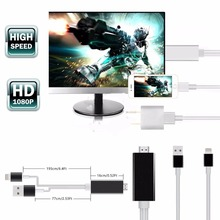 PLUG AND PLAY Lightning to HDMI HDTV AV TV Adapter Cable For iPad Mini Air iPod Touch iPhone8/7/7Plus/6/6S/6 Plus/5/5S/5C