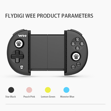 "FlyDiGi Wee Wireless Bluetooth Gamepad Game Non-vibration Stretchable Handle Controller for 3.5-6.3"" IOS Android Mobile Phone(China)"