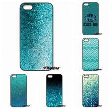 For Samsung Galaxy Note 2 3 4 5 S2 S3 S4 S5 MINI S6 S7 edge Active S8 Plus Cool Teal Blue Glitter Print Hard Phone Case Cover
