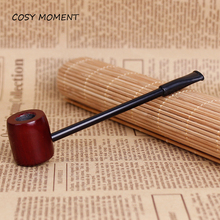 COSY MOMENT Red Sandalwood Wooden Tobacco Pipes Mini Hammer Portable Tobacco Herb Smoking Pipe Gifts  YJ270