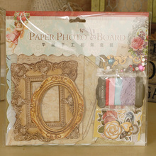 Retro Paper DIY Photo Frame Vintage Picture Frame Kit Gift Set,Scrapbooking Picture Frame(China)